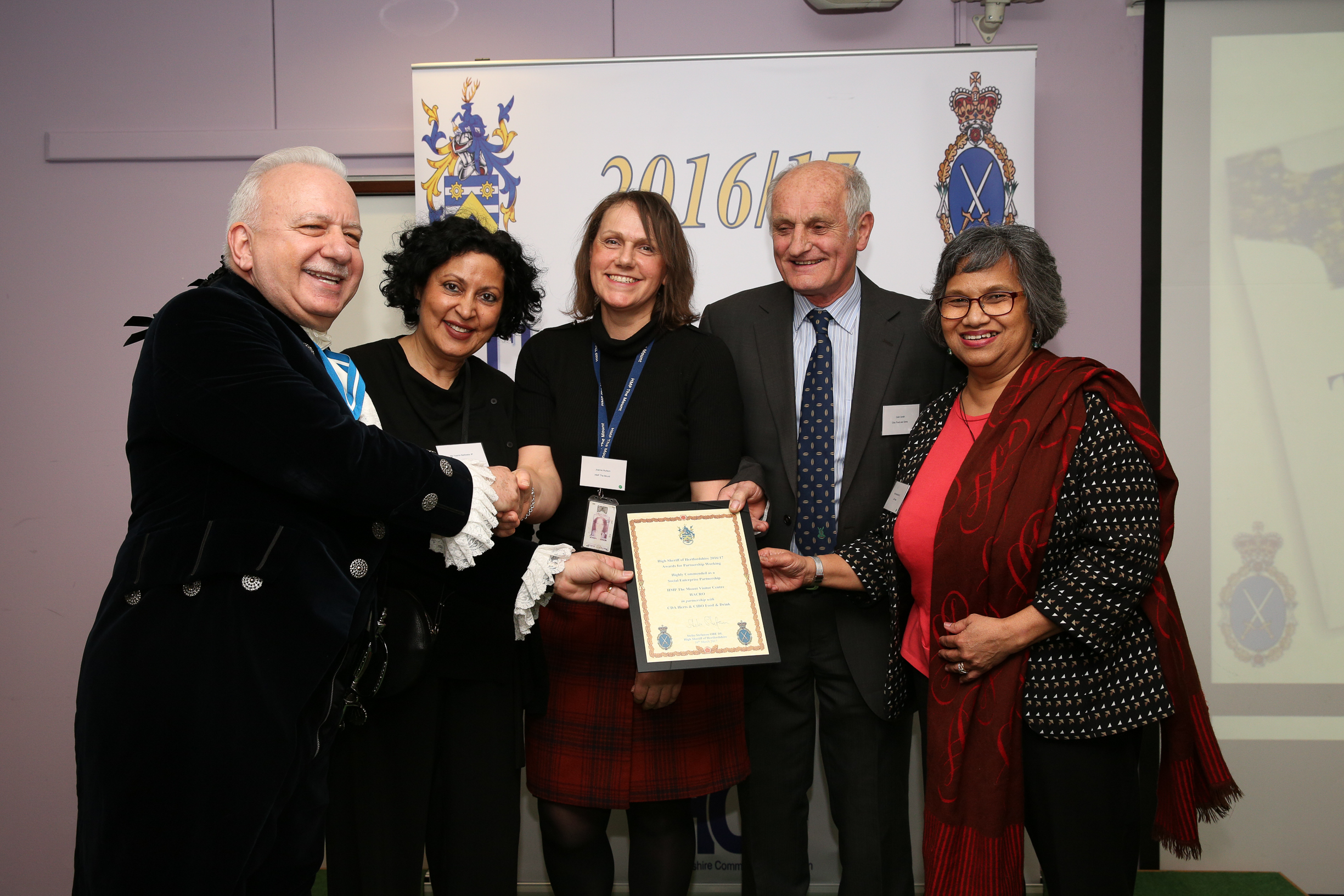 HACRO Recognised Twice in High Sheriff Awards 2017